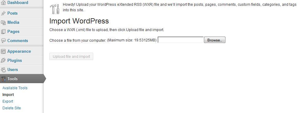Wordpress Import 2