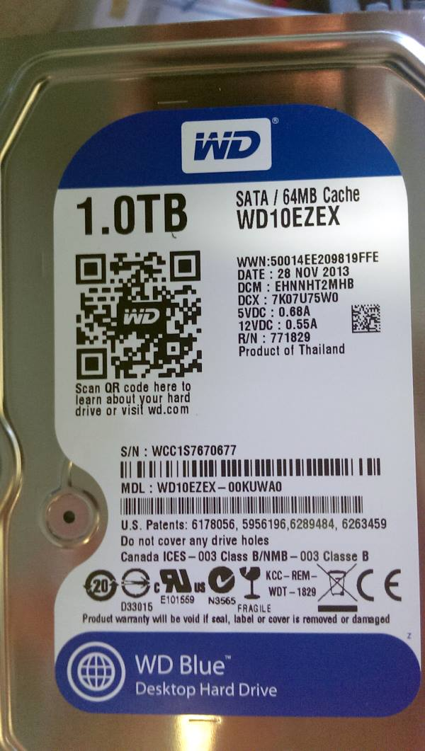 WD Blue 1TB - repair