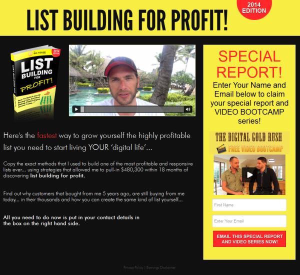 Six Figure Mentors - List Building For Profit